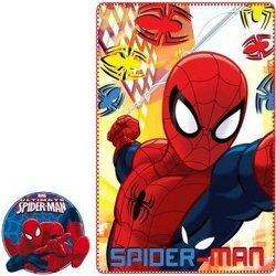 Kocyk polarowy Spiderman 100x150 red