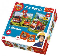 Puzzle Fireman Sam Strażacy w akcji 2w1 Memory 90791 TREFL
