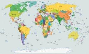 Fototapeta World Map Mapa Świata P8