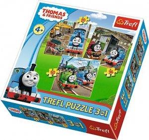 PUZZLE TOMEK I PRZYJACIELE 3w1 TREFL 34821 THOMAS