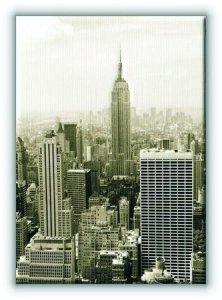 Nowy Jork. Manhattan panorama w sepii - Obraz na płótnie