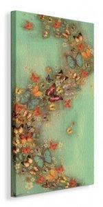 Motyle Chinese Green - Obraz na płótnie