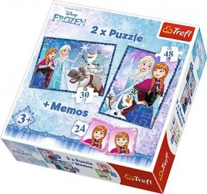 TREFL PUZZLE 2W1+ MEMOS SIOSTRY FROZEN 90617 Kraina Lodu