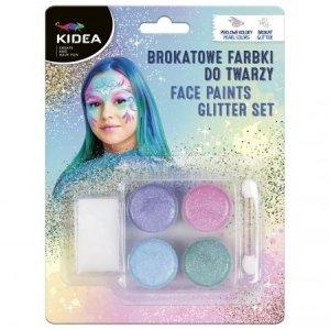 Farby do malowania twarzy i ciała perłowe brokatowe