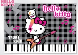 Fototapeta na flizelinie Hello Kitty Teddy Rock XL