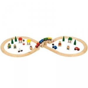 Zestaw z pociągiem i ludźmi ósemka