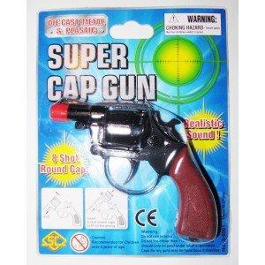 Pistolet NA SPŁONKĘ rewolwer na kapiszony metalowy