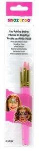SNAZAROO pędzelki - zestaw 3 pędzli pink