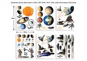 Zestaw naklejek Kosmos - Planety