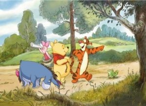 Fototapeta Disney wyprawa Kubusia Puchatka