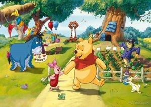 Fototapeta Disney Pooh Kubuś Puchatek 255x180cm
