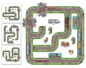 Duże puzzle Tory dla pociągów Jak Kolejka