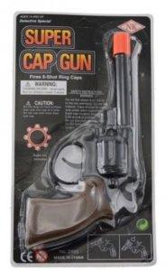 Pistolet NA SPŁONKĘ rewolwer na kapiszony Super Cap Gun