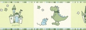 Pasek dekoracyjny Dinozaury 1091-18 Border Esprit Kids 3