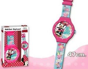 Zegar ścienny Myszka Mini  jak ręczny Minnie Mouse Disney