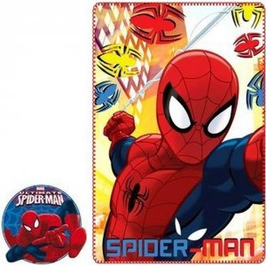 Kocyk polarowy Spiderman 100x150 red