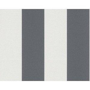 Tapeta pasy białe-szare 1790-50