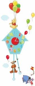 Zegar z Kubusiem Puchatkiem naklejki