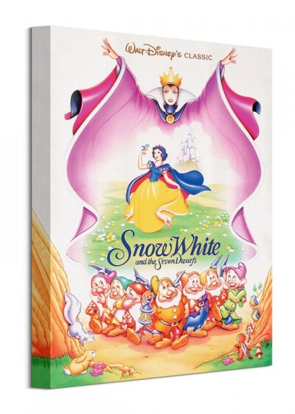 Królewna Śnieżka i Siedmiu Krasnoludków - obraz na płótnie