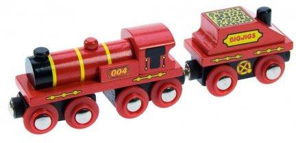 Duża czerwona lokomotywa