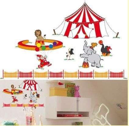 Naklejki słoń w cyrku