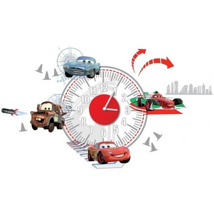 Zegar naklejka Cars Auta