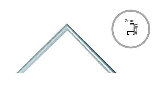 Rama 50x50 cm srebrna aluminium