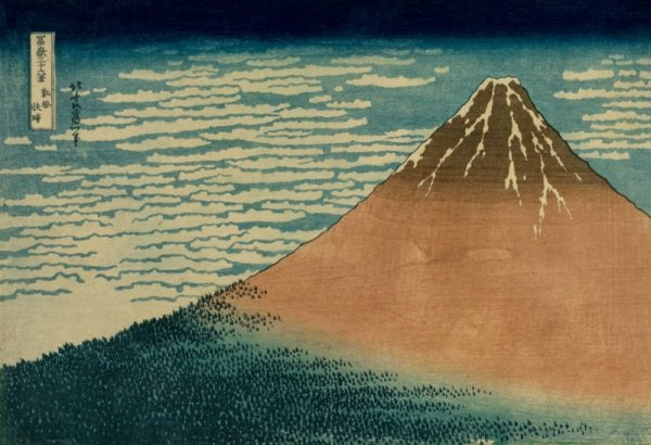 Hokusai, Fuji in Clear Weather - plakat