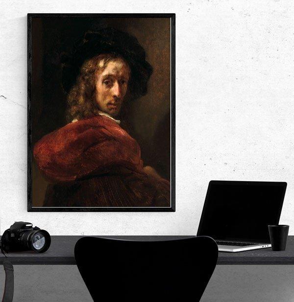 Man in a Red Cloak, Rembrandt - plakat
