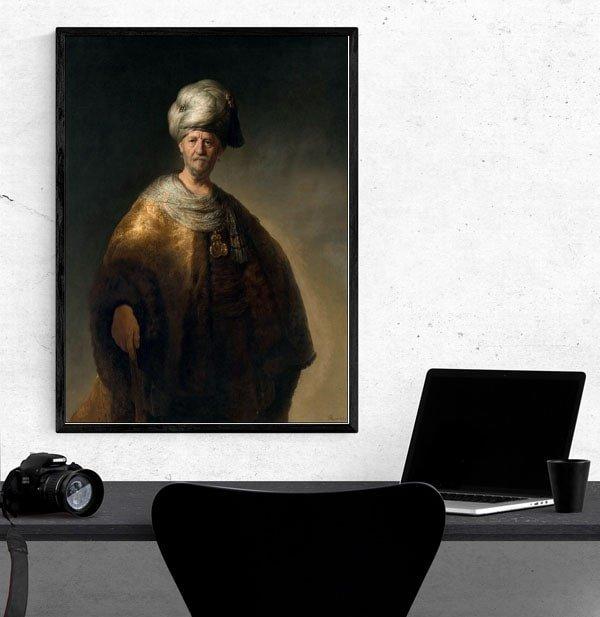 Man in a Turban, Rembrandt - plakat