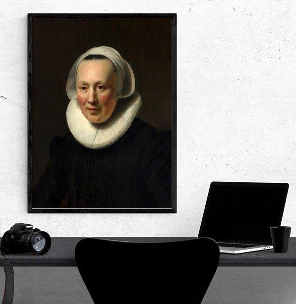 Portrait of a woman II, Rembrandt - plakat