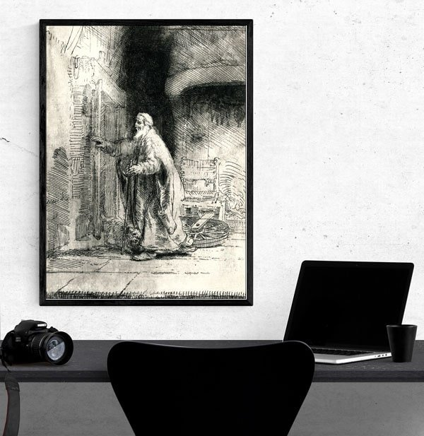 The Blindness of Tobit The Large Plate, Rembrandt - plakat