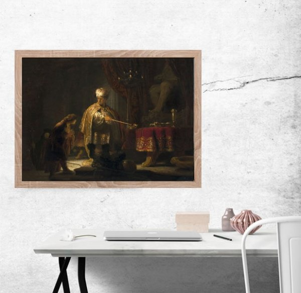 Daniel and Cyrus Before the Idol Bel, Rembrandt - plakat