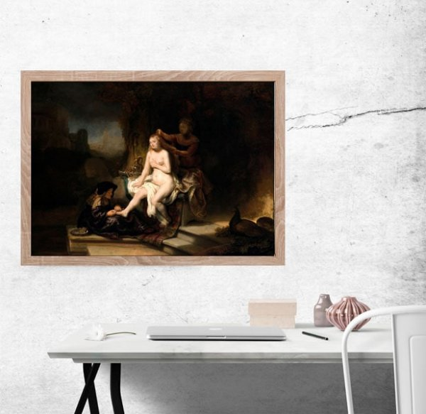 The Toilet of Bathsheba, Rembrandt - plakat