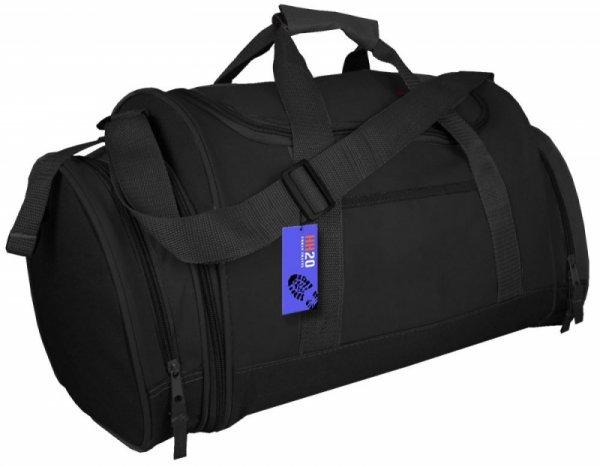 SB07 Torba Sportowa Podróżna Bagaż Podręczny z dopinaną kieszenią boczną