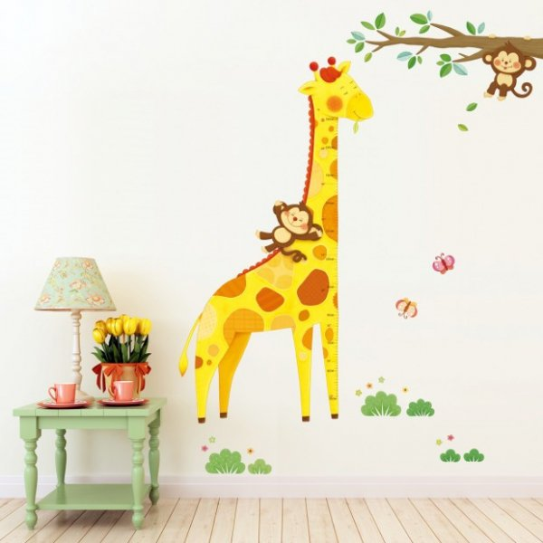 Miarka wesoła żyrafa z małpkami