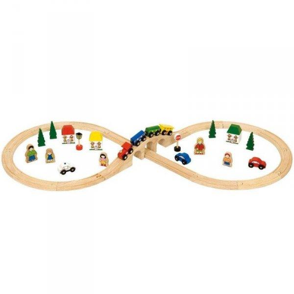 """Zestaw z pociągiem i ludźmi """"ósemka"""""""