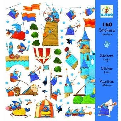 Zestaw 160 naklejek Rycerze