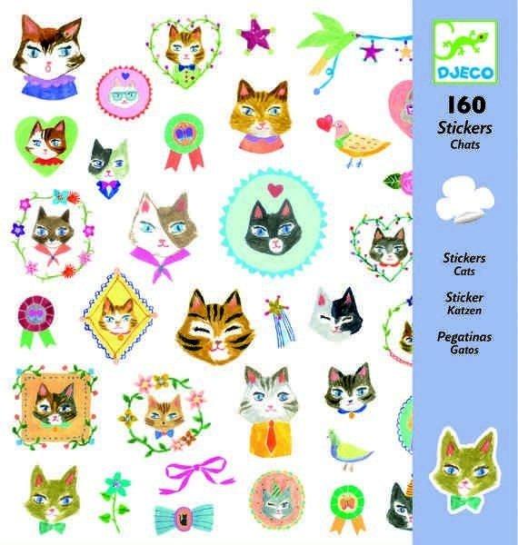 160 naklejek Koty Kotki