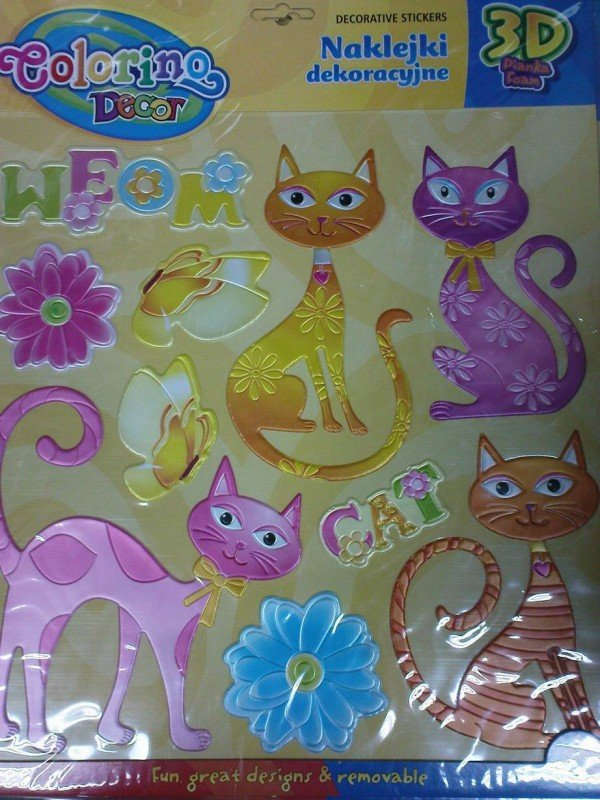 Naklejki piankowe Koty