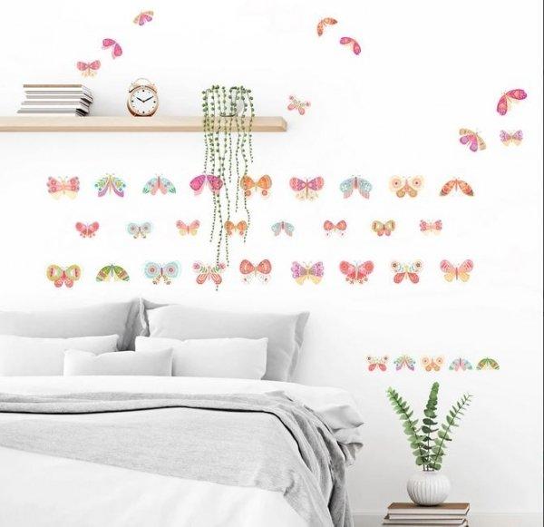 Naklejki Kolorowe Motylki Motyle Ważki Ćmy