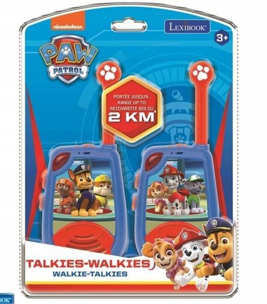 Walkie-talkie PAW Psi Patrol krótkofalówka 2km
