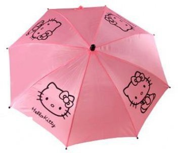Łososiowa parasolka Hello Kitty