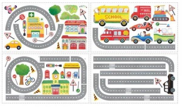 Naklejki Droga dla Samochodów Jezdnia dla Aut