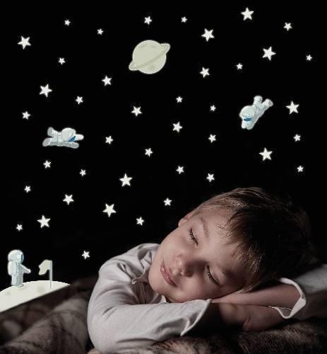 Naklejki Kosmos gwiazdki i księżyc
