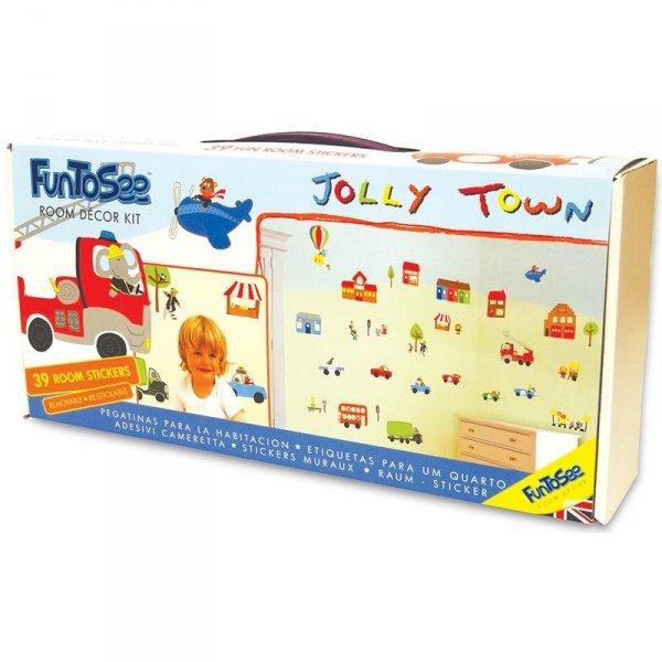 Naklejki pojazdy z budynkami Jolly Town