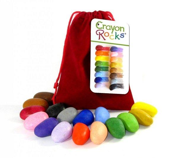 Kredki kamyki Crayon Rocks w aksamitnym woreczku 16szt