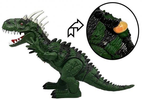 Projektor Dinozaur Zielony z dźwiękiem 52cm