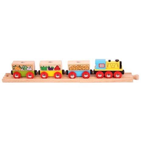 Pociąg z warzywami i owocami