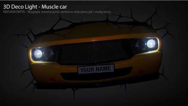Lampka nocna Maska Samochodu Muscle Car 3D Deco Light